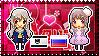 APH: Fem!Prussia x Fem!Russia Stamp by xioccolate