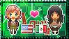 APH: Fem!America x OC!FemMexico Stamp by Cioccoreto