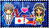 APH: Japan x OC!Philippines Stamp by xioccolate
