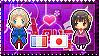 APH: France x Fem!Japan Stamp by StampillaDiChocolat