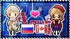 APH: Russia x Fem!Canada Stamp by xioccolate