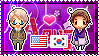 APH: America x South Korea Stamp by xioccolate
