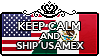 Keep Calm and Ship UsaMex by StampillaDiChocolat