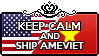 Keep Calm and Ship AmeViet by xioccolate