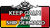 Keep Calm and Ship Germano by xioccolate