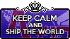 Keep Calm and Ship the World by xioccolate