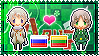 APH: Russia x Lithuania Stamp by xioccolate