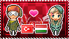 APH: Turkey x Hungary Stamp by xioccolate
