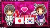 APH: Japan x Korea, South Stamp by StampillaDiChocolat