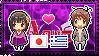 APH: Fem!Japan x Greece Stamp by xioccolate
