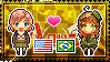 APH: Fem!America x OC!Brazil Stamp by StampillaDiChocolat