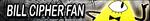 GF: Bill Cipher Fan Button by xioccolate