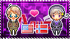 APH: America x Norway Stamp by xioccolate