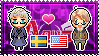 APH: Sweden x America Stamp by xioccolate