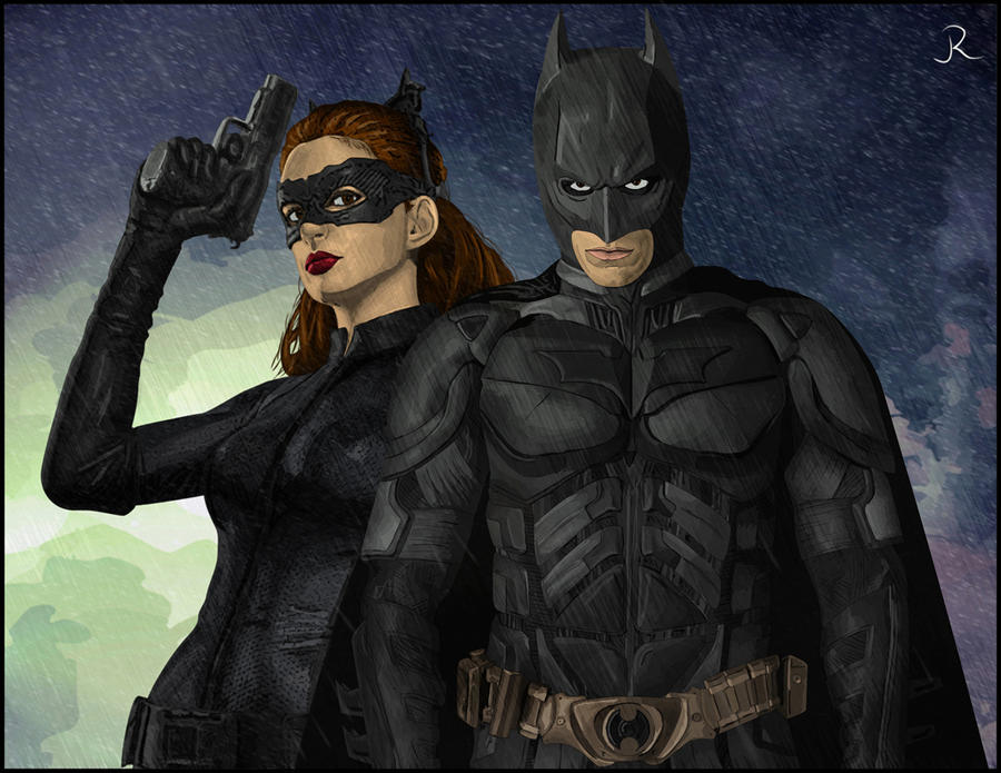 Batman and Catwoman by SpideyVille