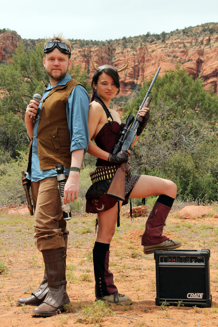 Christopher Fox Graham and Azami armed in Arizona by foxthepoet
