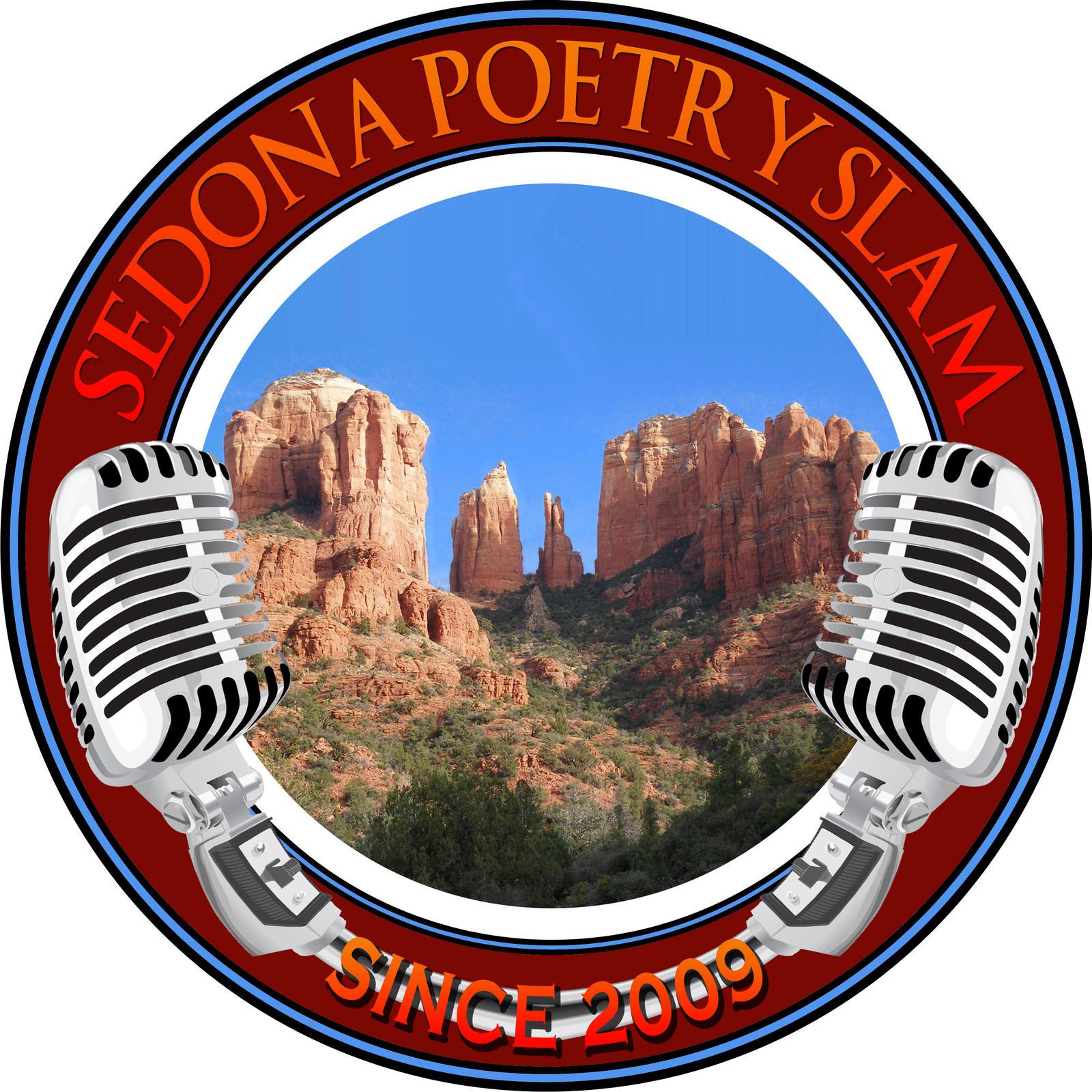 Sedona Poetry Slam logo by foxthepoet