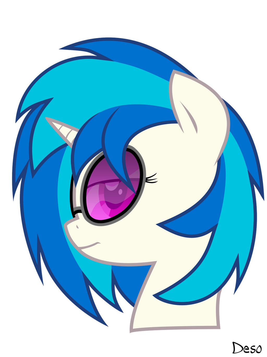 Vinyl scratch ( DJ Pon-3 ) by oX-Deso-Xo