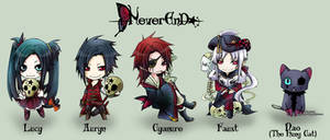 +NeverEnD-Chibis for keychains by VanRah