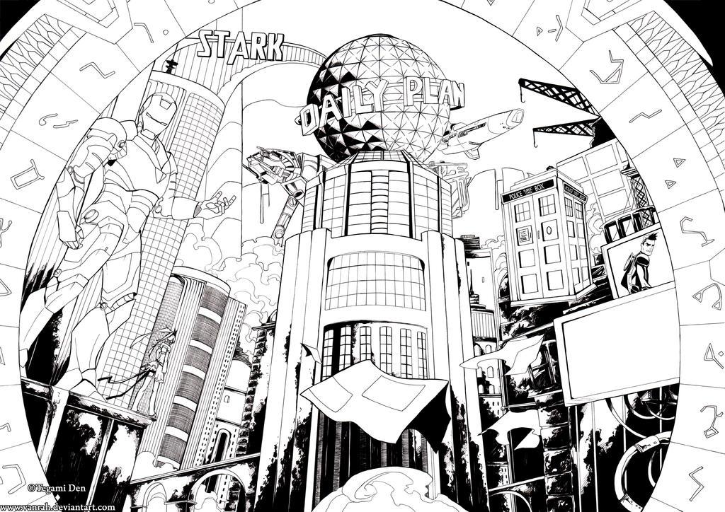 + Geekopolis :: Metropolis+ Lineart by VanRah