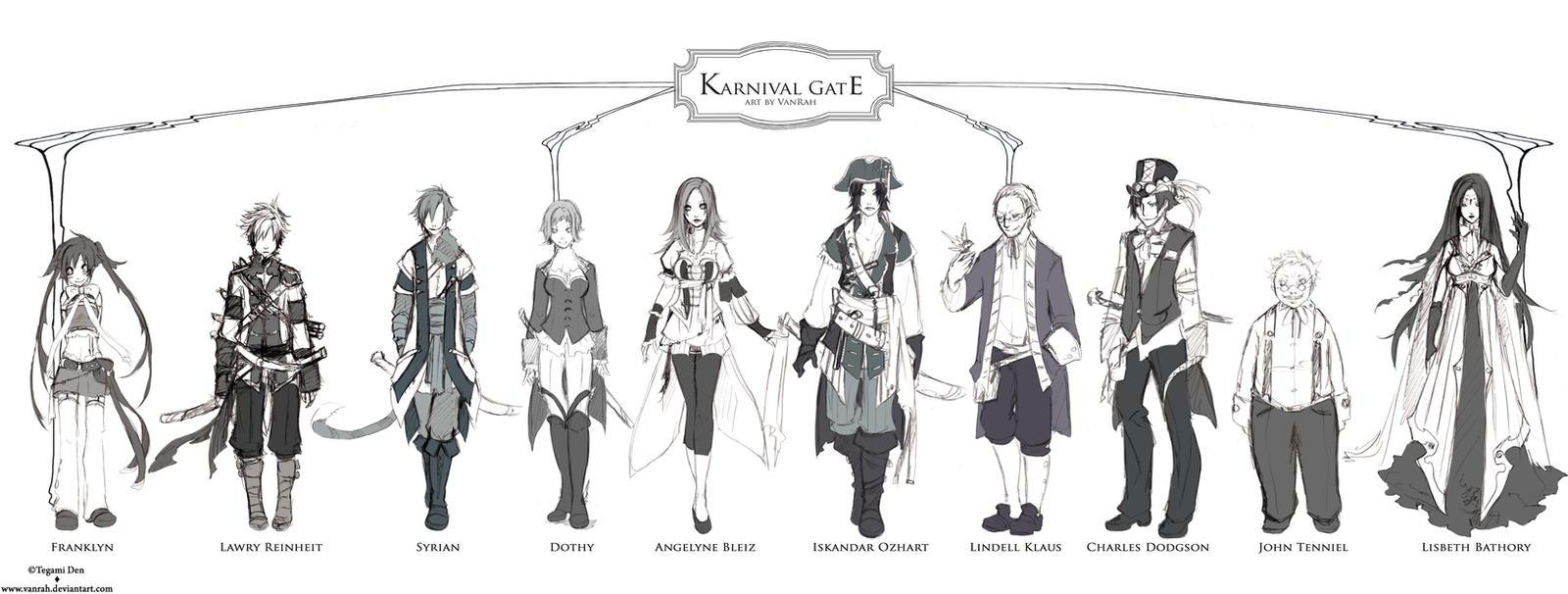 +Karnival Gate : Main Characters+ by VanRah