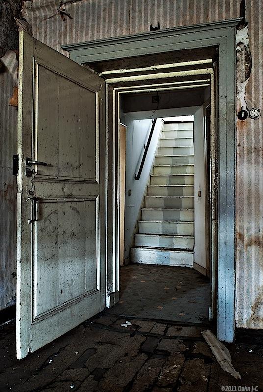 Stairs behind the door by ZerberuZ