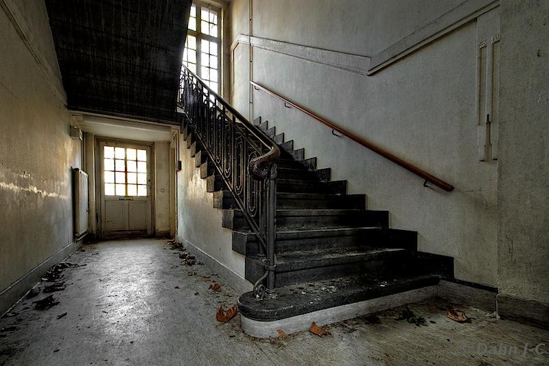 Asylum stairs by ZerberuZ