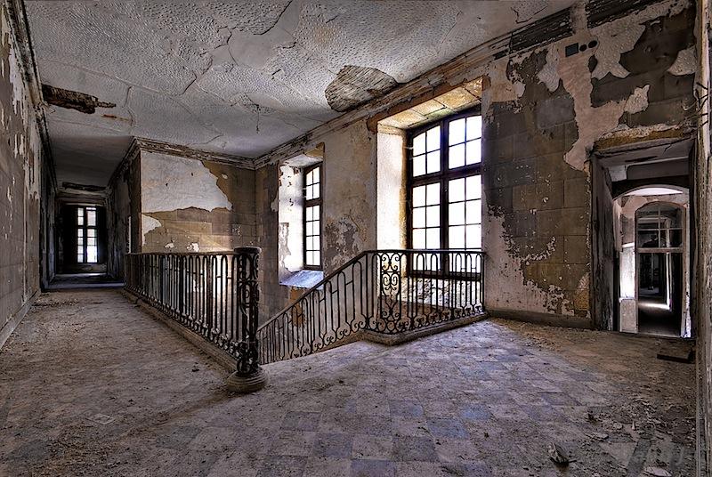 Stairs Chateau du Lac by ZerberuZ