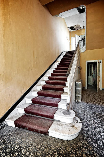 hotel stairs by ZerberuZ