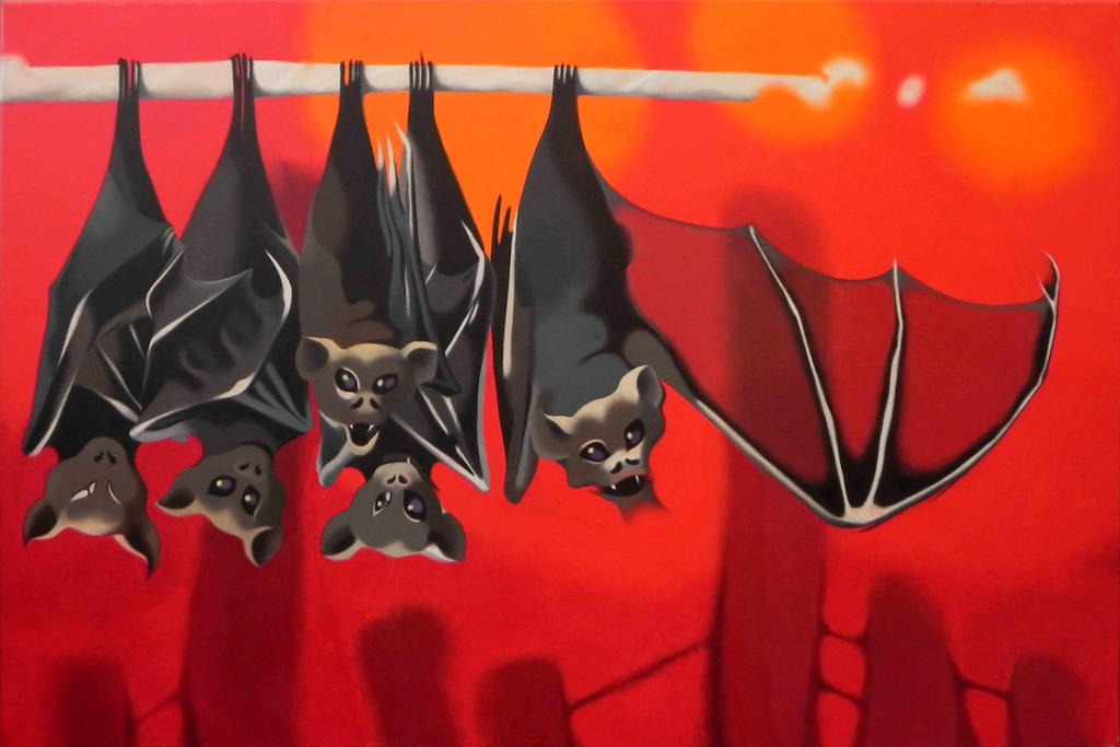 five bats by federicocortese