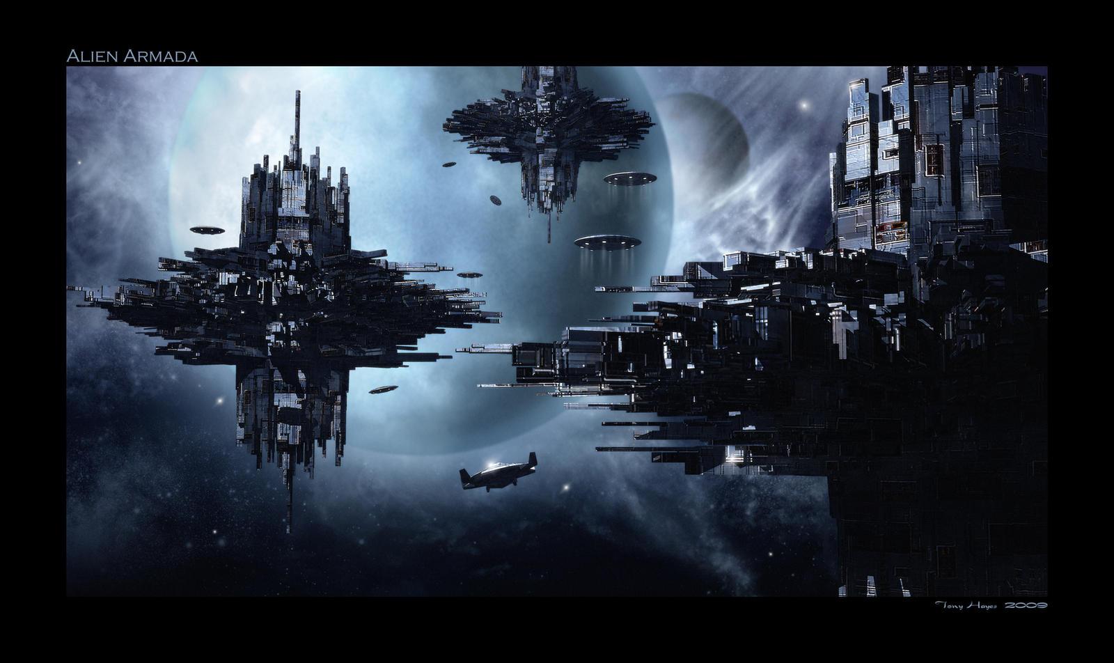 Alien Armada by Bogwoppet