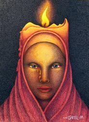 The Candle by Jose-Garel-Alvoeiro