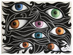 Black Waves with Eyes
