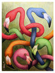 Intertwined Flamingos