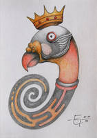 Sketchbook 06 King Vulture by Jose-Garel-Alvoeiro