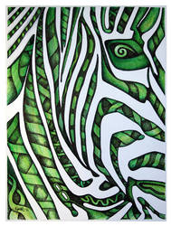 Psychedelic Zebra by Jose-Garel-Alvoeiro