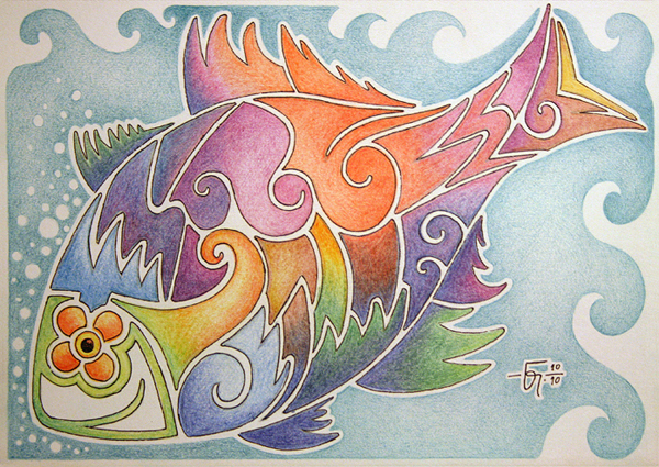 Sketchbook 09 Colored Fish by Jose-Garel-Alvoeiro