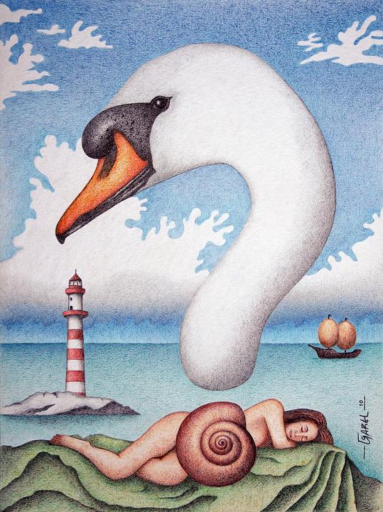Leda - The Dream? by Jose-Garel-Alvoeiro