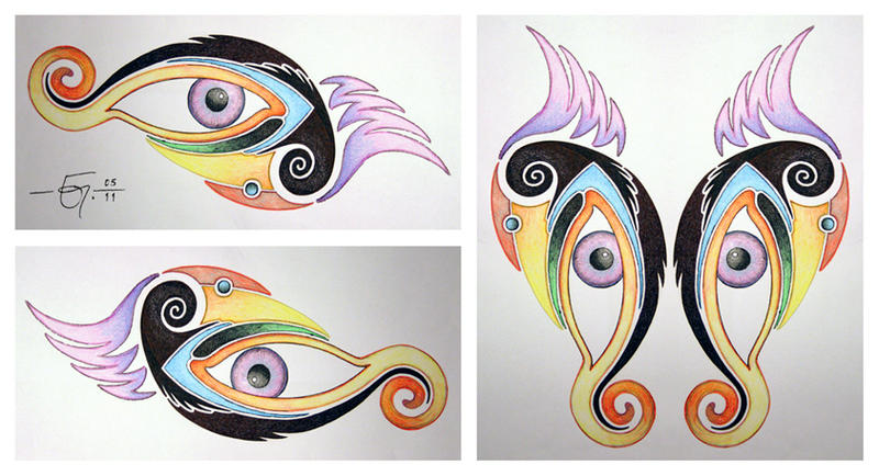 Triptych by Jose-Garel-Alvoeiro