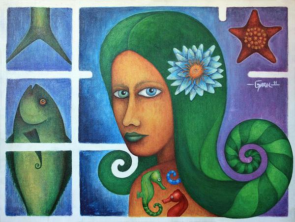 The Sea Girl by Jose-Garel-Alvoeiro