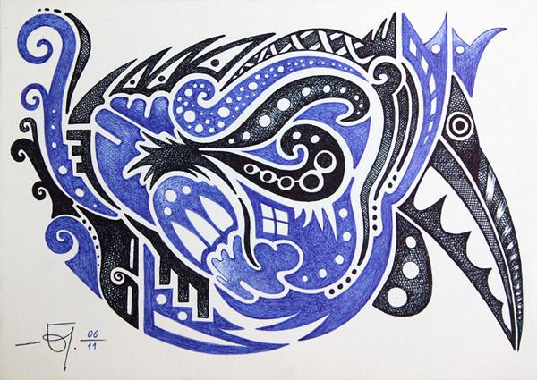 Sketchbook 11 Abstract Bird by Jose-Garel-Alvoeiro
