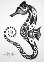 Sketchbook 14 Seahorse by Jose-Garel-Alvoeiro