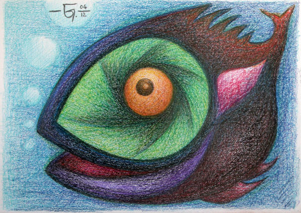 Sketchbook 22 Monster Fish by Jose-Garel-Alvoeiro