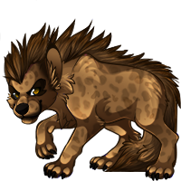 Yena striped hyena (Natural) by angel-fur