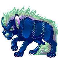 Yena striped hyena (Fantasy) #1 by angel-fur
