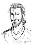Sketch Commish-Hunter Cunningham by Worldofwarcraftvamp
