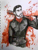 Walking Dead-Negan by Worldofwarcraftvamp