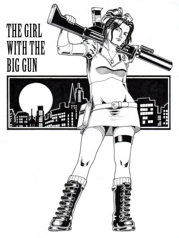 The Girl With The Big Gun by VindictiveVendetta