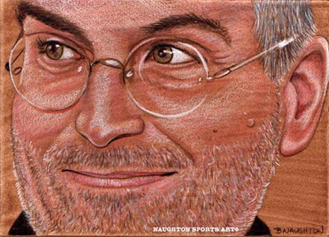 5 x 7 Steve Jobs Artwork (Mixed Media) by Brent-Naughton-17