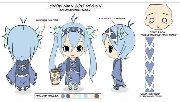 Snow Hatsune Miku 2015 Nendoroid Design